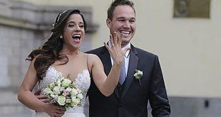 ¡Oficialmente esposos! Vanessa Terkes y George Forsyth se dieron el 'sí'