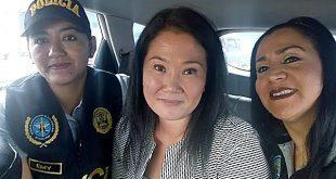 Investigan a agentes que aparecen en foto con Keiko Fujimori