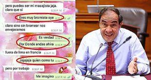 Defensor del Pueblo vio chats entre Lescano y periodista y aseguró que hay acoso sexual